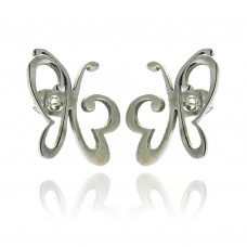 Wholesale Stainless Steel Butterfly Stud Earring - SSE00019