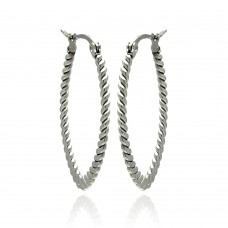 Wholesale Stainless Steel Rope Hoop Earring - SSE00039