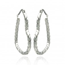 Wholesale Stainless Steel Twisted Heart Hoop Earring - SSE00040
