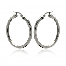 Wholesale Stainless Steel Plain Hoop Earring - SSE00046