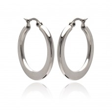 Wholesale Stainless Steel Plain Hoop Earring - SSE00047