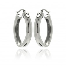 Wholesale Stainless Steel Thick Hoop Earring - SSE00048