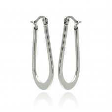 Wholesale Stainless Steel High Polish Horse Shoe Hoop Earring - SSE00049