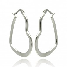 Wholesale Stainless Steel Heart Hoop Earring - SSE00055