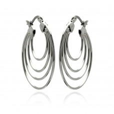 Wholesale Stainless Steel Multi Hoop Earring - SSE00059