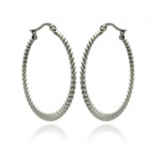 Wholesale Stainless Steel Rope Hoop Earring - SSE00060