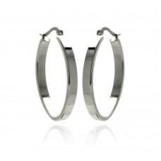 Wholesale Stainless Steel Simple Hoop Earring - SSE00061