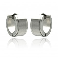 Wholesale Stainless Steel Plain Small Hoop Earring - SSE00072