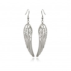 Wholesale Stainless Steel Open Angel Wings Hook Earring - SSE00093