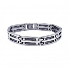 Wholesale Stainless Steel Cable Wire Bracelet - SSB00024
