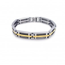 Wholesale Stainless Steel Gold Plated Bracelet - SSB00042