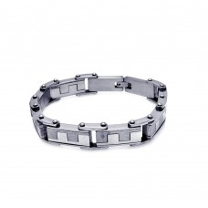 Wholesale Stainless Steel Puzzle Link Bracelet - SSB00174