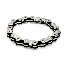 Wholesale Stainless Steel Tow tone Bike Chain Bracelet - SSB00181