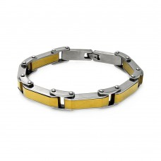 Wholesale Stainless Steel Gold Plated Link Bracelet - SSB00202