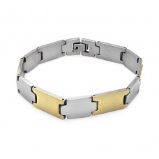 Wholesale Stainless Steel Gold Plated Link Bracelet - SSB00222