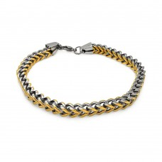 Wholesale Stainless Steel Two Toned Gold Plated Bracelet - SSB00240