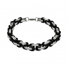 Wholesale Stainless Steel Two Toned Black Bracelet - SSB00241