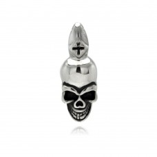 Wholesale Stainless Steel Skull Head Charm Pendant - SSP00326