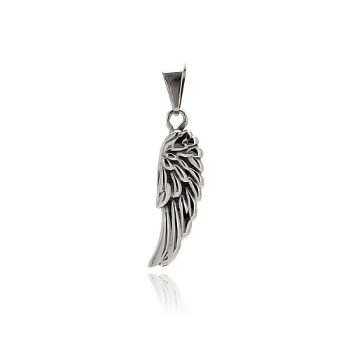 Wholesale Stainless Steel Angel Wing Charm Pendant - SSP00401