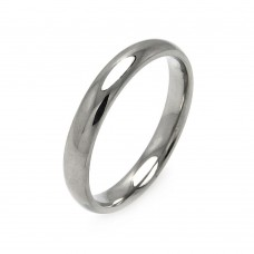Wholesale Men's Stainless Steel Band Ring 3mm - SRB001