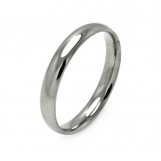 Wholesale Men's Stainless Steel Band Ring 4mm - SRB002