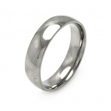Wholesale Men's Stainless Steel High Polished Band Ring 6mm - SRB004