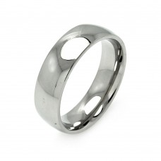 Wholesale Men's Stainless High Polished Steel Ring 7mm - SRB005