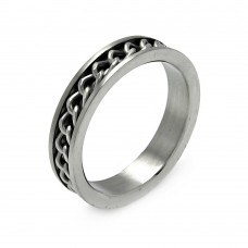 Wholesale Men's Stainless Steel Chain Ring 5mm - SRB009