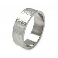 Wholesale Men's Stainless Steel Rock Design Ring - SRB025