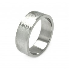Wholesale Men's Stainless Steel Abstract Design Ring - SRB034