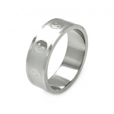 Wholesale Men's Stainless Steel Yin Yang Design Ring - SRB035