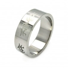 Wholesale Men's Stainless Steel Abstract Design Ring - SRB049