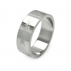 Wholesale Men's Stainless Steel Abstract Design Ring - SRB051