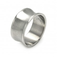 Wholesale Men's Stainless Steel Fluted Ring - SRB052