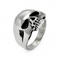 Wholesale Men's Stainless Steel Skull Ring - SRN003