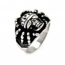 Wholesale Men's Stainless Steel Spider Skull Ring - SRN004