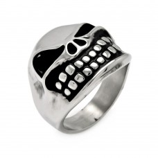 Wholesale Men's Stainless Steel Smiling Skull Ring - SRN035