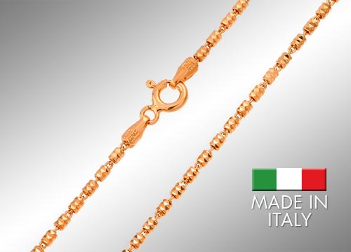 Sterling Silver Rose Gold Plated Chains