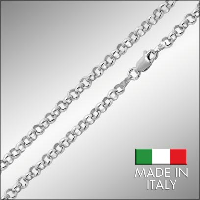 Sterling Silver Rolo Chains