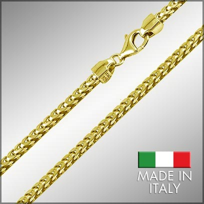 Sterling Silver Gold Plated Franco Chains