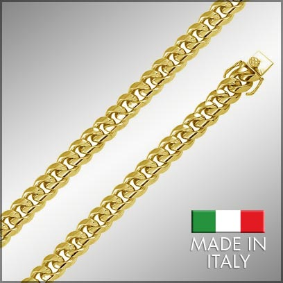 Sterling Silver Gold Plated Miami Cuban Chains