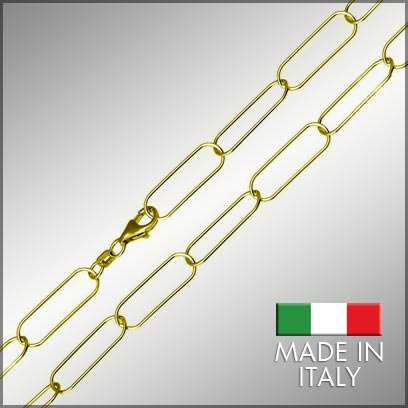 Sterling Silver Gold Plated Paperclip Chains