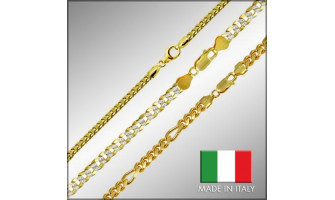 Sterling Silver Gold Plated Chains