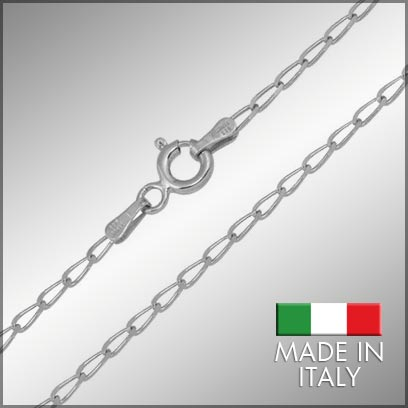 Sterling Silver Rhodium Link Chains
