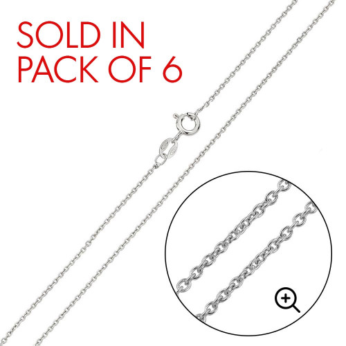 Wholesale Sterling Silver 925 Rhodium Plated Anchor 020 Chain .75mm - CH236 RH