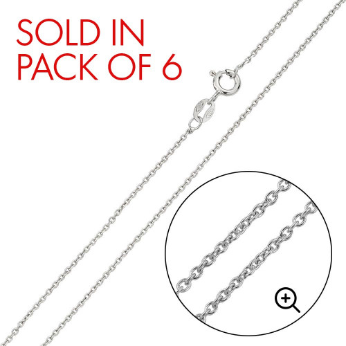 Wholesale Sterling Silver 925 Rhodium Plated Anchor 025 Chain 1mm - CH237 RH