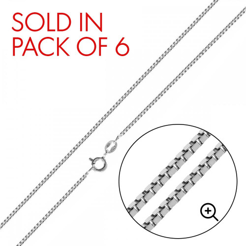 Wholesale Sterling Silver 925 High Polished Box 012 Chain 0.6mm - CH733