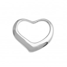 Wholesale Sterling Silver 925 Rhodium Plated Open Heart Pendant - AJP00001