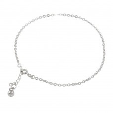 Wholesale Sterling Silver 925 Link Bell Anklet - ANK00020