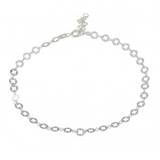 Wholesale Sterling Silver 925 Multi Disc X Cut Out Anklet - ANK00026